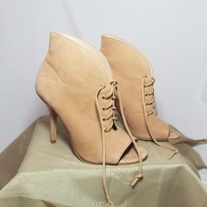 Aldo Tan Suede Lace Up Heels